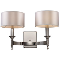 ELK 10122/2 Pembroke 2 Light 19 inch Polished Nickel Wall Sconce Wall Light