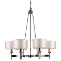 ELK Lighting Pembroke 6 Light Chandelier in Polished Nickel 10123/6