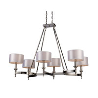 ELK Lighting Pembroke 6 Light Chandelier in Polished Nickel 10124/6