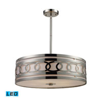 ELK Lighting Zarah 5 Light Pendant in Polished Nickel 10125/5-LED