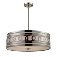Zarah 5 Light 23 inch Polished Nickel Pendant Ceiling Light in Standard