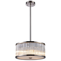 ELK 10128/3 Braxton 3 Light 16 inch Polished Nickel Pendant Ceiling Light