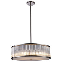 Braxton 5 Light 24 inch Polished Nickel Pendant Ceiling Light