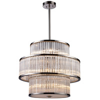 ELK 10130/5+5+5 Braxton 15 Light 24 inch Polished Nickel Pendant Ceiling Light
