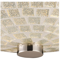 ELK 10139/2SLV Fusion 2 Light 12 inch Satin Nickel Semi Flush Mount Ceiling Light in Silver Mosaic Glass alternative photo thumbnail