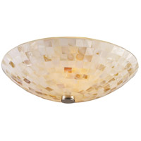 Capri 2 Light 12 inch Satin Nickel Semi-Flush Mount Ceiling Light in Standard