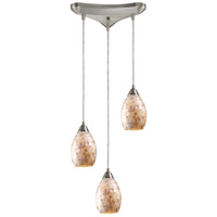 ELK Lighting Capri 3 Light Pendant in Satin Nickel 10141/3