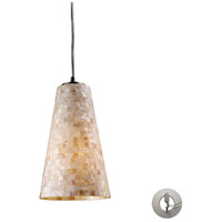 ELK Lighting Capri 1 Light Pendant in Satin Nickel 10142/1-LA
