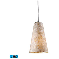 ELK Lighting Capri 1 Light Pendant in Satin Nickel 10142/1-LED