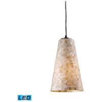 ELK 10142/1-LED Capri LED 6 inch Satin Nickel Pendant Ceiling Light in Standard