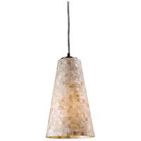 ELK 10142/1 Capri 1 Light 6 inch Satin Nickel Pendant Ceiling Light in Incandescent Standard