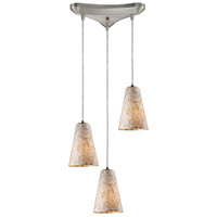 ELK Lighting Capri 3 Light Pendant in Satin Nickel 10142/3