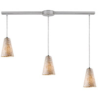 ELK 10142/3L Capri 3 Light 36 inch Satin Nickel Linear Pendant Ceiling Light in Incandescent, Linear with Recessed Adapter