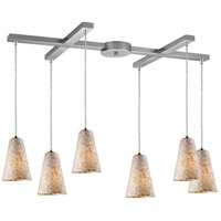 ELK Lighting Capri 6 Light Pendant in Satin Nickel 10142/6
