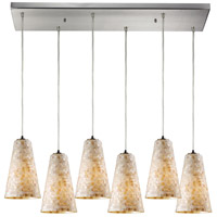 ELK Lighting Capri 6 Light Pendant in Satin Nickel 10142/6RC