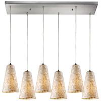 ELK 10142/6RC-LED Capri LED 9 inch Satin Nickel Pendant Ceiling Light