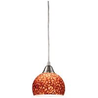 ELK Lighting Cira 1 Light Pendant in Satin Nickel 10143/1PE