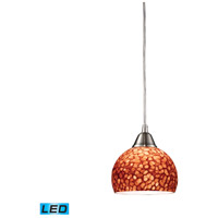 ELK Lighting Cira 1 Light Pendant in Satin Nickel 10143/1PE-LED