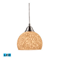 ELK Lighting Cira 1 Light Pendant in Satin Nickel 10143/1PW-LED