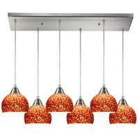 ELK Lighting Cira 6 Light Pendant in Satin Nickel 10143/6RC-PE