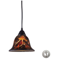 ELK Lighting Firestorm 1 Light Pendant in Dark Rust 10144/1FS-LA
