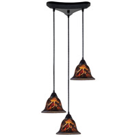 ELK Lighting Firestorm 3 Light Pendant in Dark Rust 10144/3FS