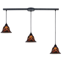 ELK Lighting Firestorm 3 Light Pendant in Dark Rust 10144/3L-FS