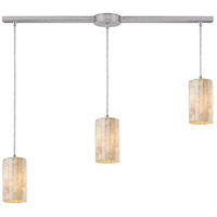 Coletta 3 Light 36 inch Satin Nickel Linear Pendant Ceiling Light in Incandescent, Linear with Recessed Adapter