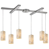ELK Lighting Piedra 6 Light Pendant in Satin Nickel 10147/6