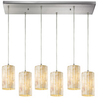 ELK Lighting Piedra 6 Light Pendant in Satin Nickel 10147/6RC