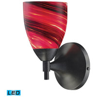 Celina LED 6 inch Dark Rust Wall Sconce Wall Light in Autumn Glass