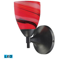 Celina LED 6 inch Dark Rust Wall Sconce Wall Light in Candy Glass