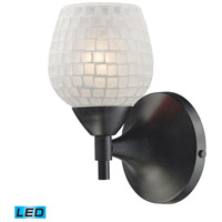 ELK Lighting Celina 1 Light Wall Sconce in Dark Rust 10150/1DR-WHT-LED
