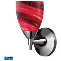 Celina LED 6 inch Polished Chrome Wall Sconce Wall Light in Autumn Glass