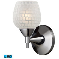 ELK Lighting Celina 1 Light Wall Sconce in Polished Chrome 10150/1PC-WHT-LED