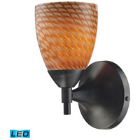 Celina LED 6 inch Dark Rust Wall Sconce Wall Light in Cocoa Glass