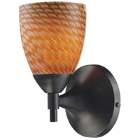 Celina 1 Light 6 inch Dark Rust Sconce Wall Light in Standard, Cocoa Glass