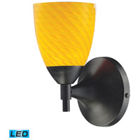Celina LED 6 inch Dark Rust Wall Sconce Wall Light in Canary Glass