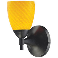 ELK 10150/1DR-CN Celina 1 Light 6 inch Dark Rust Sconce Wall Light in Standard, Canary Glass photo thumbnail