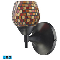 Celina LED 6 inch Dark Rust Wall Sconce Wall Light in Multi Mosaic Glass