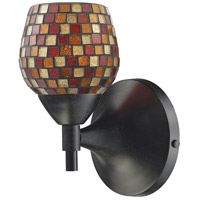 Celina 1 Light 6 inch Dark Rust Sconce Wall Light in Standard, Multi Mosaic Glass