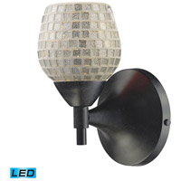 ELK 10150/1DR-SLV-LED Celina LED 6 inch Dark Rust Wall Sconce Wall Light in Silver Mosaic Glass