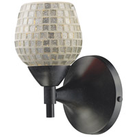 Celina 1 Light 6 inch Dark Rust Sconce Wall Light in Standard, Silver Mosaic Glass