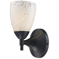 Celina 1 Light 6 inch Dark Rust Sconce Wall Light in Standard, Snow White Glass