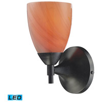 ELK 10150/1DR-SY-LED Celina LED 6 inch Dark Rust Wall Sconce Wall Light in Sandy Glass