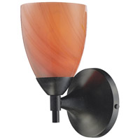 Celina 1 Light 6 inch Dark Rust Sconce Wall Light in Standard, Sandy Glass