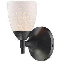 Celina 1 Light 6 inch Dark Rust Sconce Wall Light in Standard, White Swirl Glass
