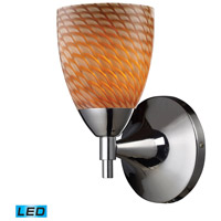 Celina LED 6 inch Polished Chrome Wall Sconce Wall Light in Cocoa Glass
