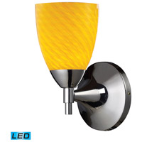 Celina LED 6 inch Polished Chrome Wall Sconce Wall Light in Canary Glass