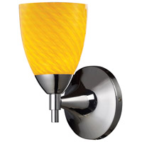 Celina 1 Light 6 inch Polished Chrome Sconce Wall Light in Standard, Canary Glass